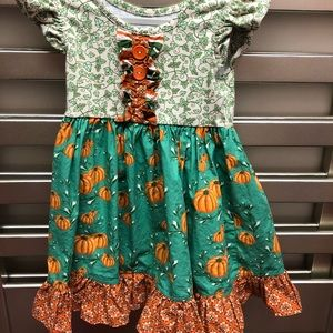Eleanor rose pumpkin dress size 2t